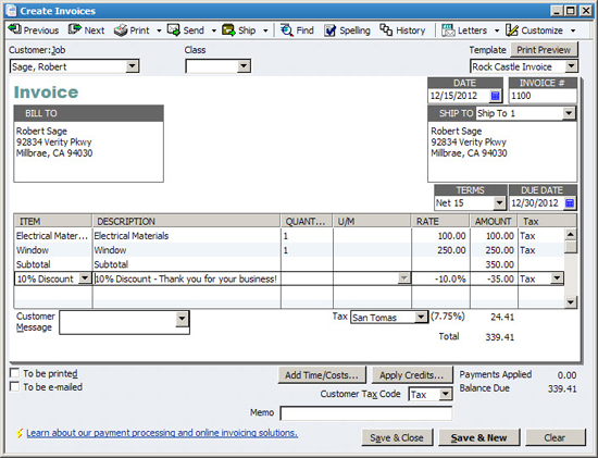 Brea CA Accounting Firm QuickBooks Tips Page Bates Coughtry - Quickbooks invoice subtotal