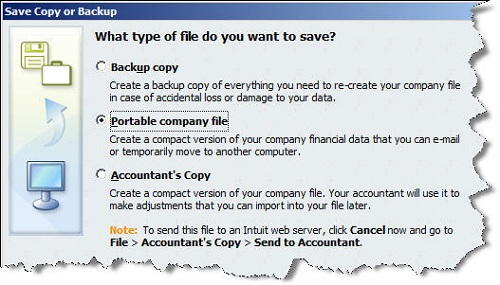 Backup or Portable Company File? How to Decide | Chiampou