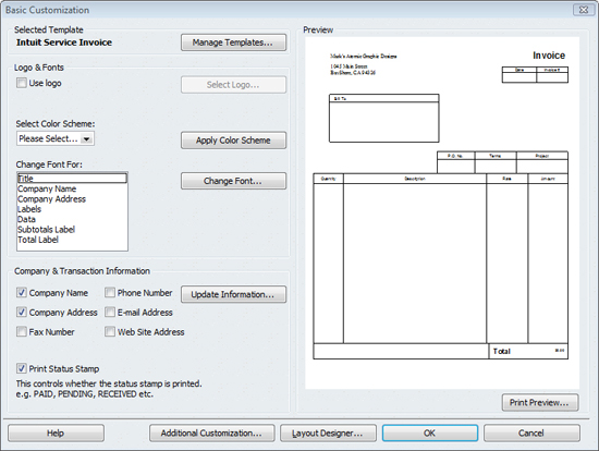Look Professional With Customized Quickbooks Forms 2