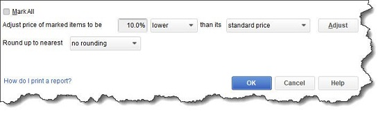 Figure 3 - You can establish a <strong>Price Level </strong>for specific items in QuickBooks.
