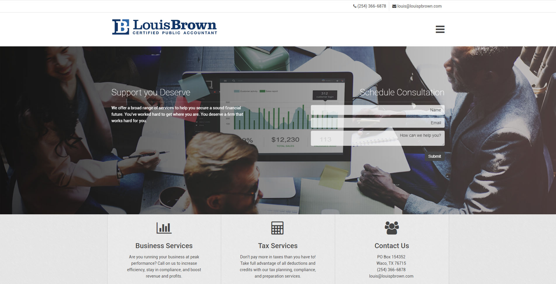 Custom Website Design Services for CPAs and Accountants