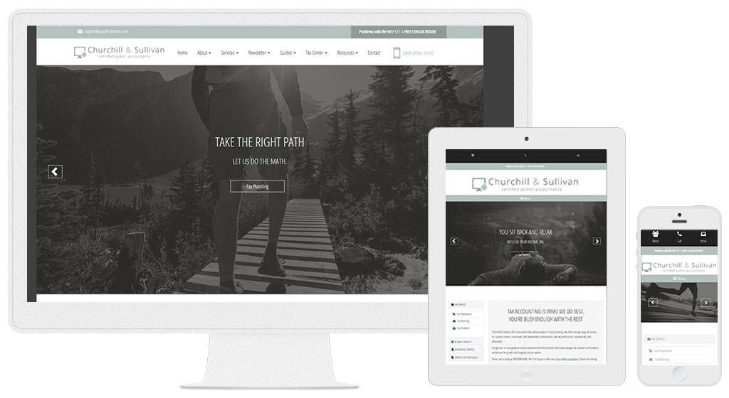 Accounting Website Design #630