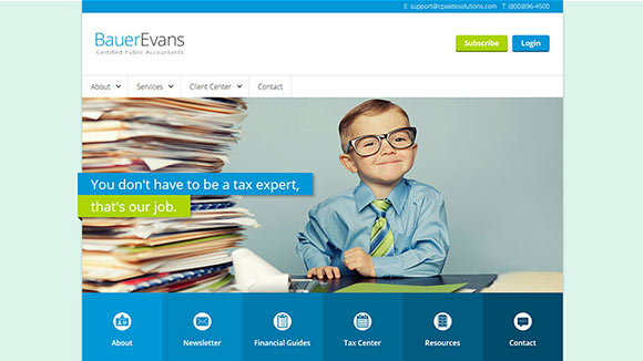 Accounting Website Templates and CPA Website Designs