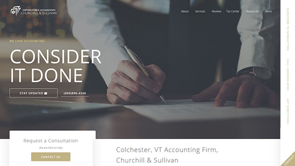 Accounting Website Design #593