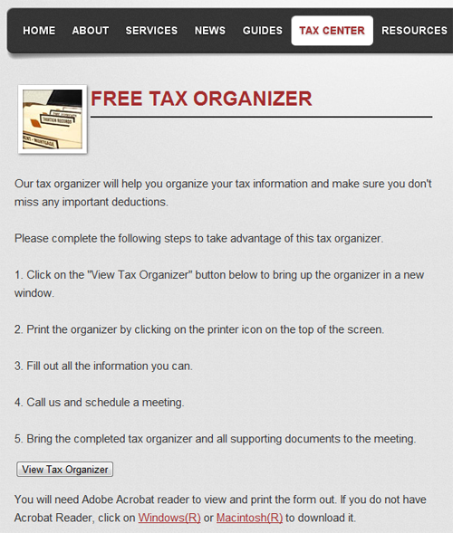 Printables Tax Organizer Worksheet cpa websites and free tax organizer site solutions blog clients just click to get the printable pdf