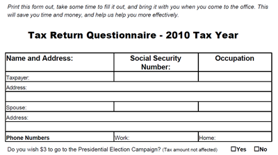 The Tax Return Questionnaire Takes Your Clients Through All Information You Need To Complete Their