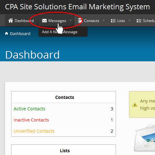 email marketing cpa Email Marketing System Help - CPA Site Solutions Help CenterCPA Site ...
