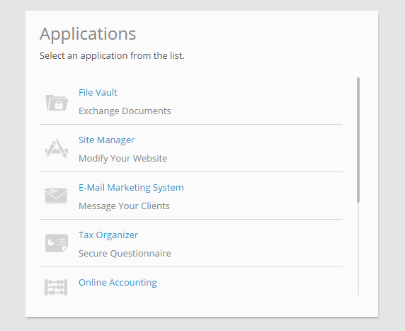 Applications Screen Shot For Help Section